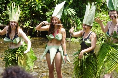The guides made us jungle clothing