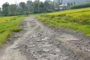 The road around Lake Toba.