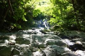 An eternally high waterfall.